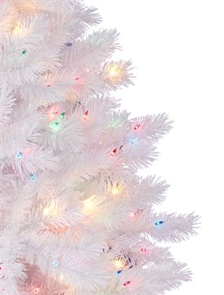 classic white christmas tree with multi color lights wwwbalsamhillcomclassic white artificial christmas tree pwww thtm