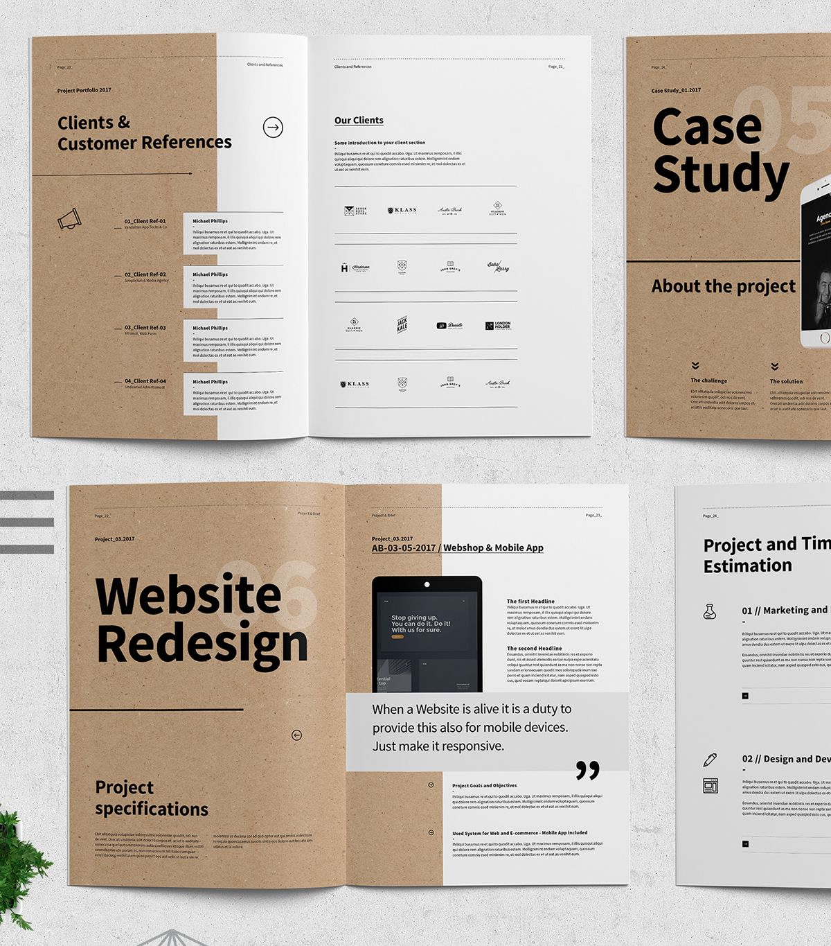 Stunning Portfolio Template For Indesign: Quantum Design Proposal On Behance