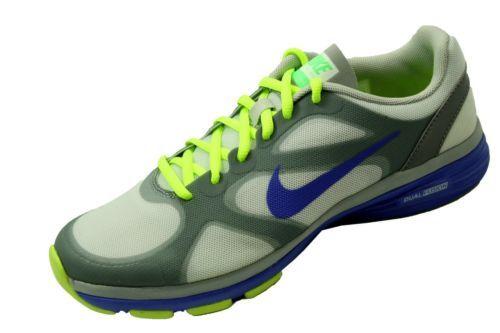 Nike Dual Fusion TR Training Sneaker Strata Grey/Volt/Blue Womens Shoe Size  7.5