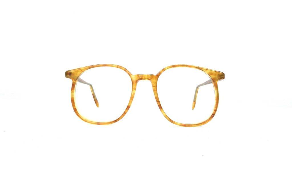 9de2e39cceb9 vintage 80s deadstock round eyeglasses oversized frame yellow honey amber  gold acrylic men women eyewear retro eye glasses new optical 259 by ...