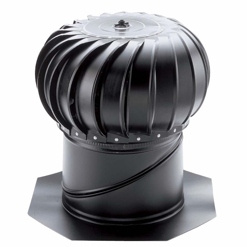 Aluminum Mill Finish Attic Roof Wind Turbine Air Ventilation Cooling Fan 14In