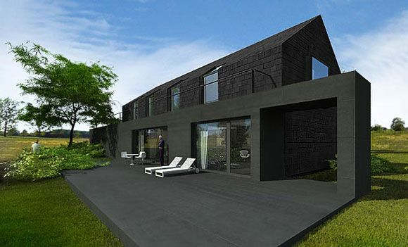 S-2-House-Black-Exterior-Designs1 | Architettura | Pinterest