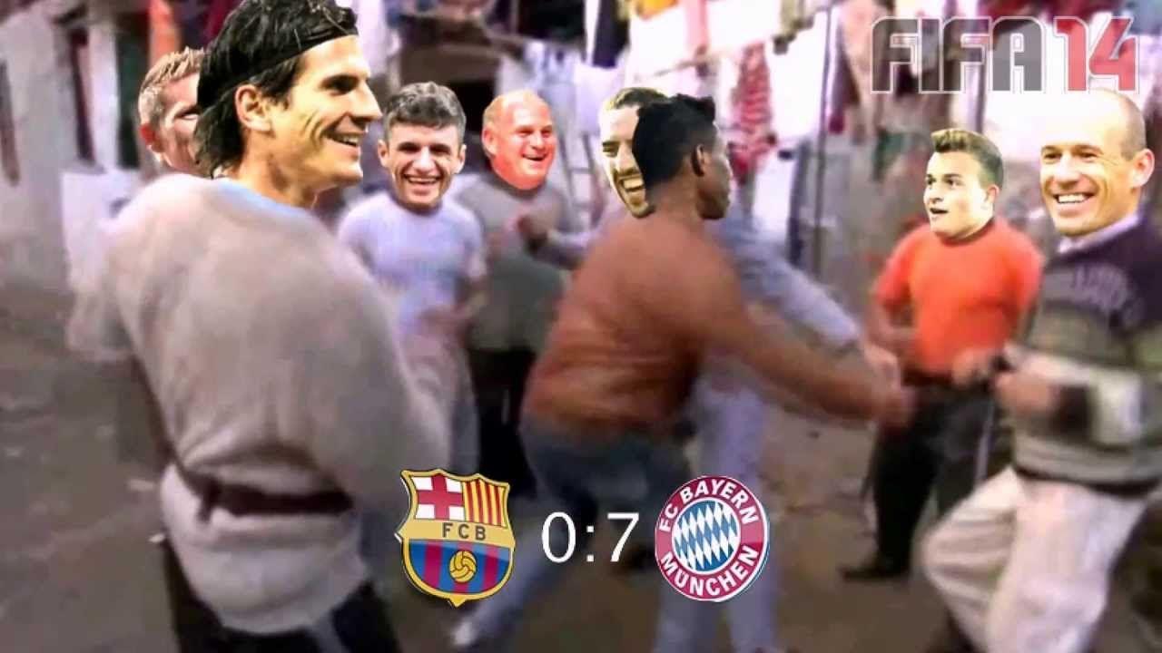 Bayern Munich Vs Barcelona 7 0 Images Wallpaper Barcelona Vs Bayern Munich In Football Style Sport Wallpaper Bayern Bayern Munich Munich