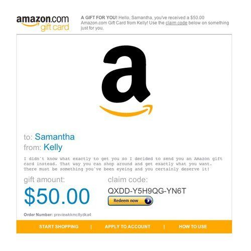 Amazon Gift Card - E-mail - All Occasions: http://www.amazon.com ...