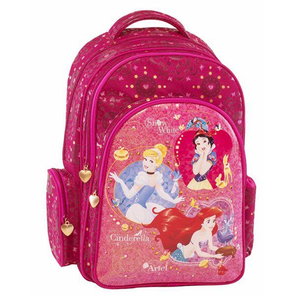 4422d1634af Princess Σχολική Τσάντα Πολυθεσιακή Δημοτικού | Princess Σχολικά ...