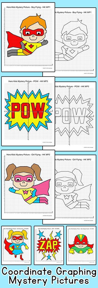 Pin By Shanon Saulsbury On Education Coordinate Graphing Mystery Picture Coordinate Graphing Superhero Classroom Theme