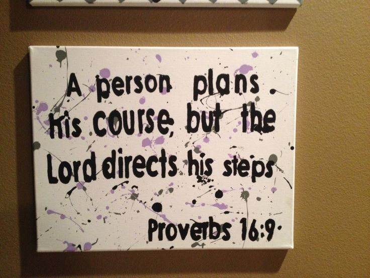 Proverbs 169 Splatter Paint Canvas Bible Verse
