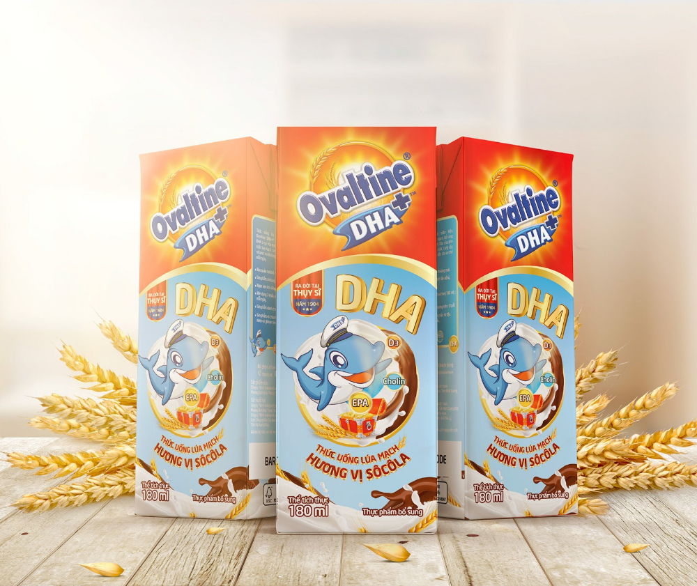 Ovaltine DHA Plus is part of Ovaltine, Milk packaging, Kids milk, Creative packaging design, Packaging design inspiration, Packaging design -  Materials Paper To upgrade & refresh brand image by launching new product, tap in premium segment with outstanding offered benefits, supplemented with DHA to helps kids not only physical development but also brain enhancement  The new packaging design delivers the concept of premium feeling but kid friendly and scientific look, utilize artwork from Regional Ovaltine