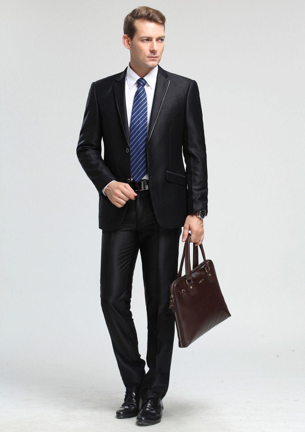 Men Business Office Uniform Design Wholesale Coat Pant Men Suit ...