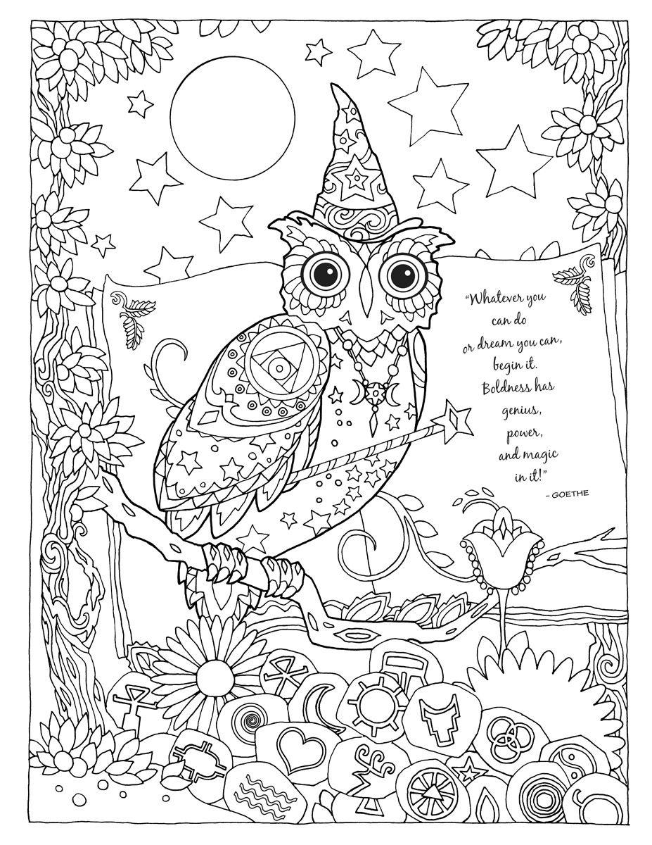 25 Wizard Owl_flat.jpg | Paper Art | Pinterest | Buhos para colorear ...