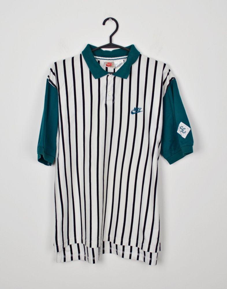 c0c99882e Nike Supreme Court Mens size M Striped White Green Vintage Tennis Polo  #fashion #clothing #shoes #accessories #mensclothing #shirts (ebay link)