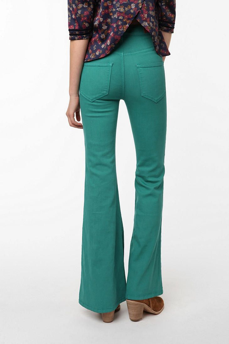 flare jeans in a fun color