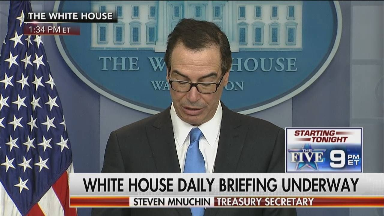 "Breaking News: Treasury Secretary Steven Mnuchin announces sanctions have been imposed in response to the Syrian chemical attack. ""We intend to hold the Assad regime accountable for its unacceptable behavior.""  He said the Office of Foreign Assets Control is sanctioning 271 employees from the Syrian government agency ""responsible for developing and producing non-conventional weapons and means to deliver them."""