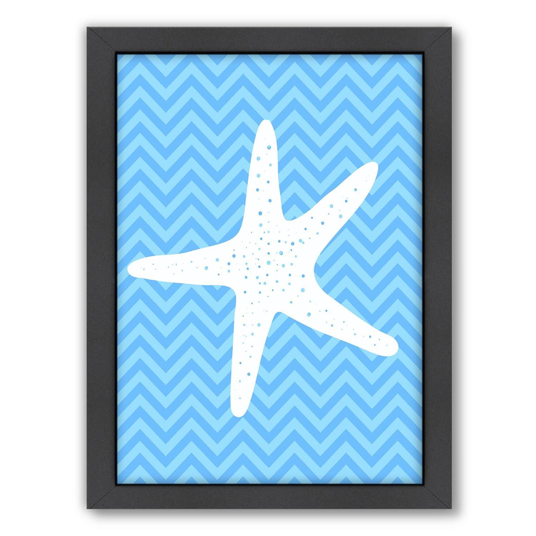 Americanflat Sea Chevron Starfish Framed Wall Art Chevron Sea Americanflat Starfish Framed Wall Art Framed Prints Art