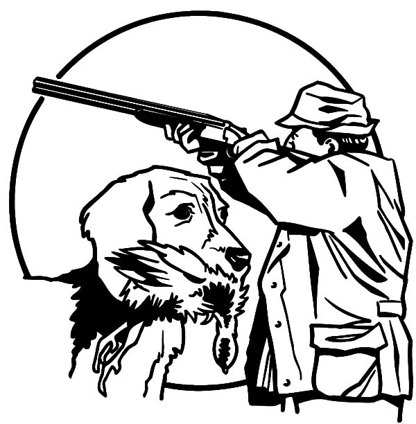Hunting With Trained Dog Coloring Pages Coloring Sky Dog Coloring Page Coloring Pages Bird Coloring Pages