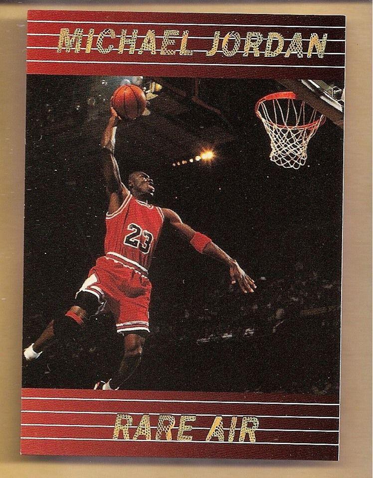 199394 michael jordan rare air promo chicago bulls card