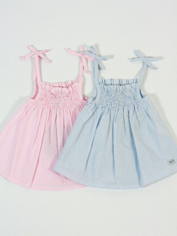 vestido bebe niña verano azul y rosa jose varon  446ad7af4d46