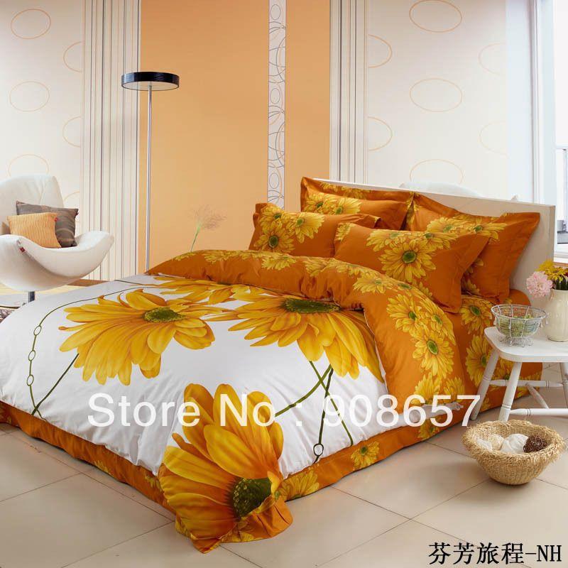 100 cotton yellow sunflower 3d printed bedding sets quality duvet 100 cotton yellow sunflower 3d printed bedding sets quality duvet quilt cover queen full sizes mightylinksfo