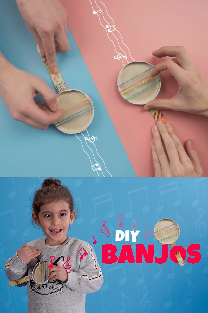 DIY Banjos – A Simple Upcycled Craft for Toddlers