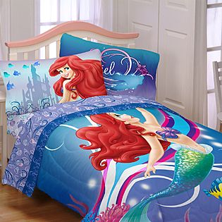 Ariel Comforter Set Twin Little Mermaid Size Under The Sea With