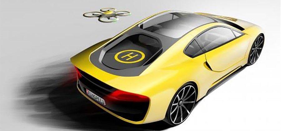 #Rinspeed imagina un coche autónomo con un helipuerto para #drones en la parte trasera http://goo.gl/UYsMfU #imagine #autonomous #car #with #back #helipad