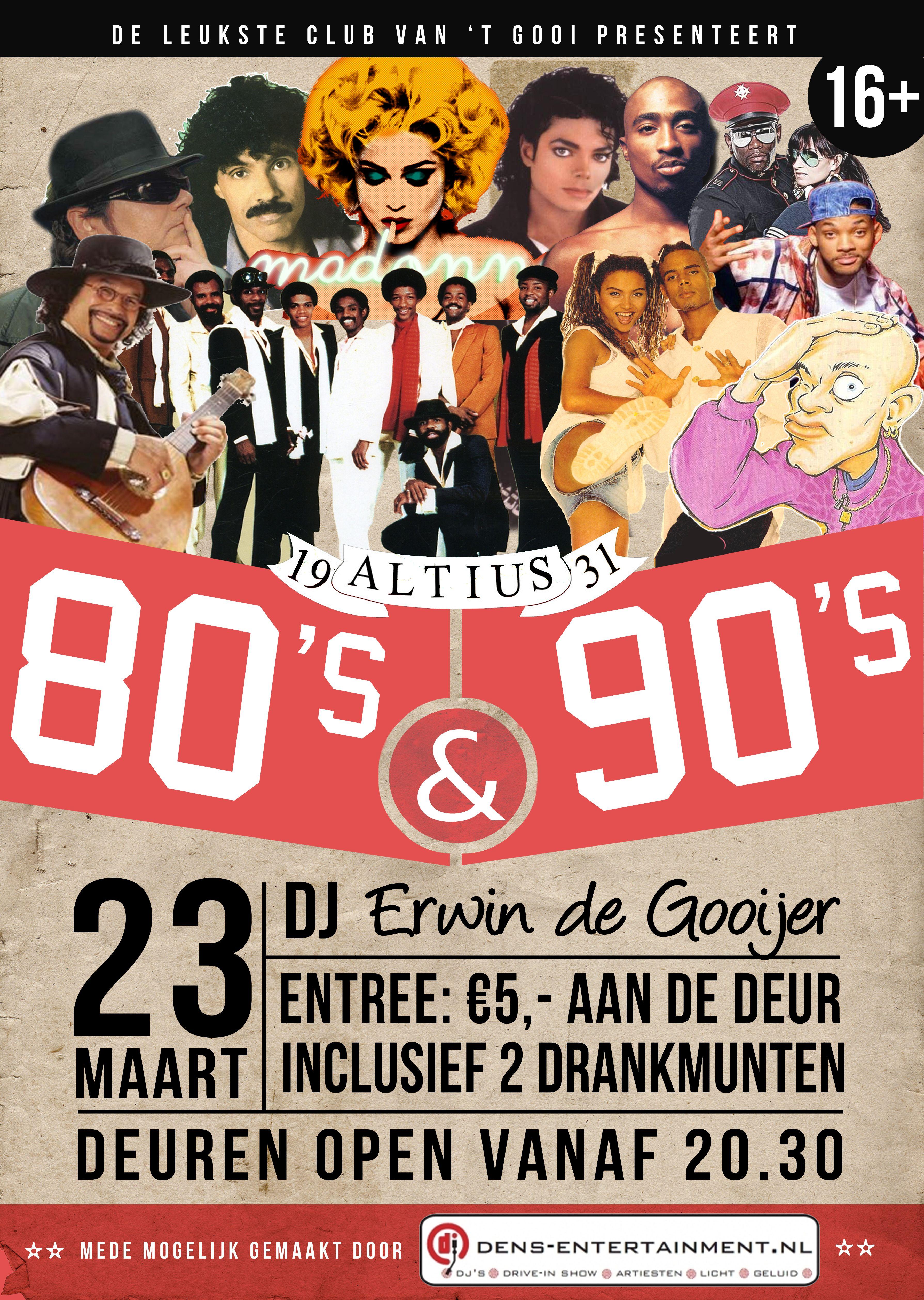 90s poster design - Poster 80 S 90 S Party V V Altius Design By Michiel Wilman