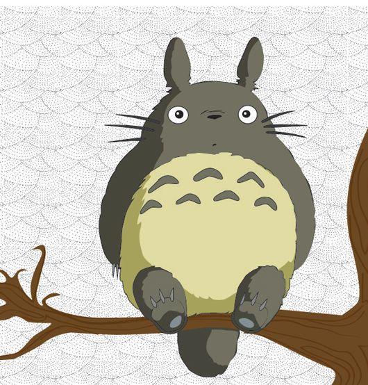 Totoro on a branch by V1CiiOUS.deviantart.com on @deviantART ...