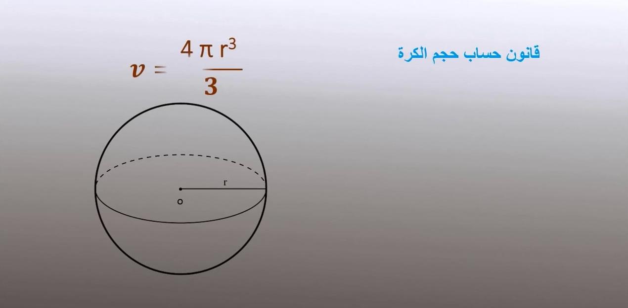 ما هو حجم الكرة موسوعة Math Science Ball