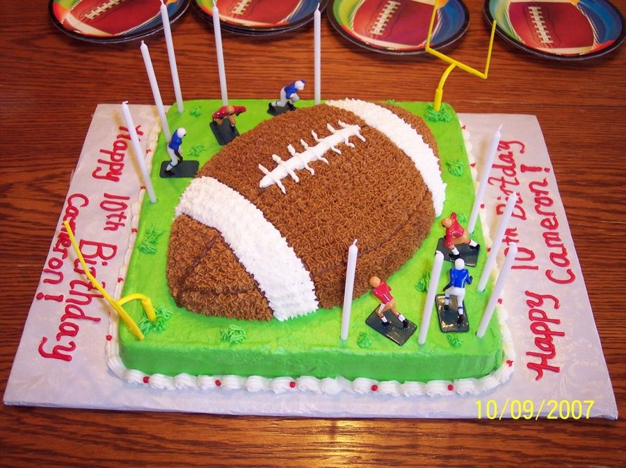 Pin Boys Birthday Cake This Is A Football For 10 Year Old Boy Who Cake On Pinterest Boy Birthday Cake New Birthday Cake Creative Birthday Cakes