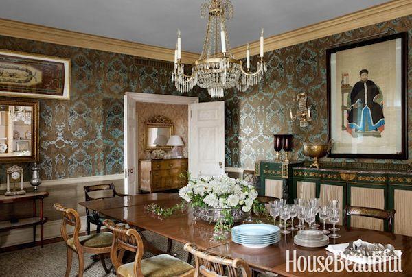 House Beautiful Dining Rooms tom samet & ross meltzer via house beautiful mag february 2013