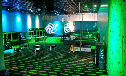 12 For Two One Hour Jump Sessions At Elevate Trampoline Park 24 Value Trampoline Park Park 24 Trampoline