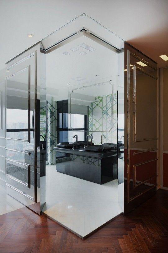 appartement chinois deco coloree salle de bain moderne