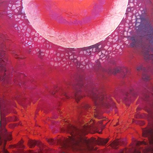 Farbe Rot Rot Farbe Spirituelle Kunst Farben