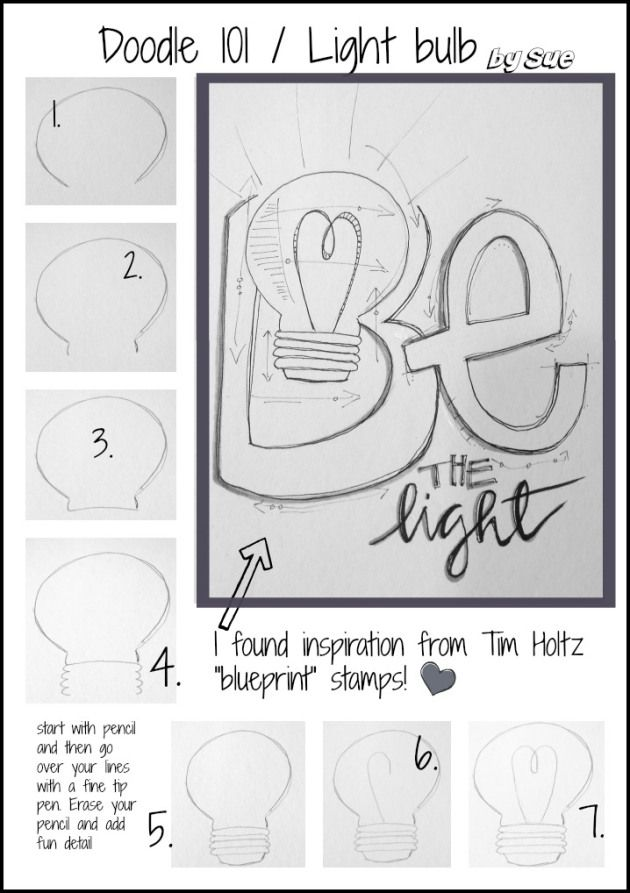 Doodle 101 click on images for pdf light bulb doodles and bulbs bajdoodle 101 light bulb sue carroll malvernweather Images