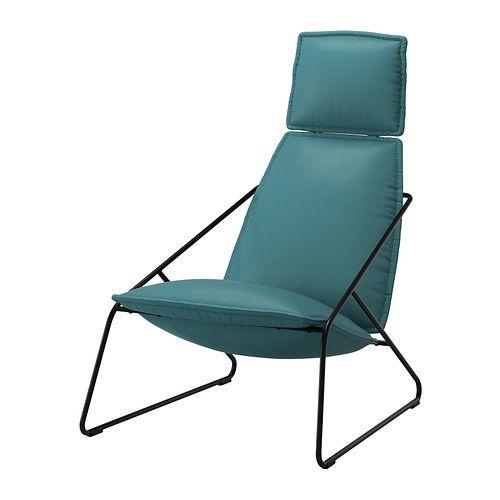 VILLSTAD Stol med høy rygg - Samsta turkis - IKEA