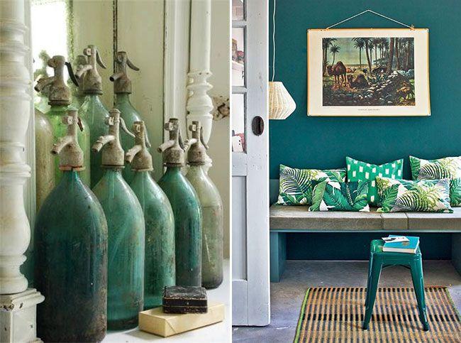 Trendy groen interieur │Trendy green interior design #urbanjungle ...