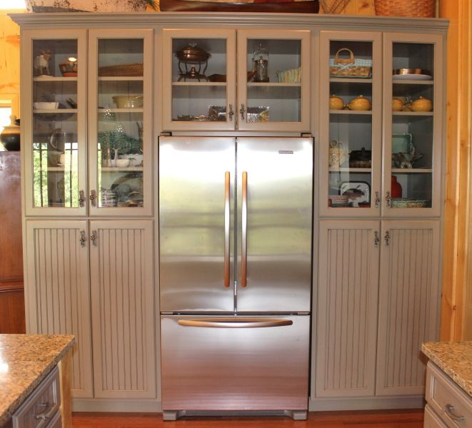 Refrigerator Wall Cabinet Eagle Cabinets Solid Wood Kitchens Solid Wood Kitchen Cabinets Wood Kitchen Cabinets