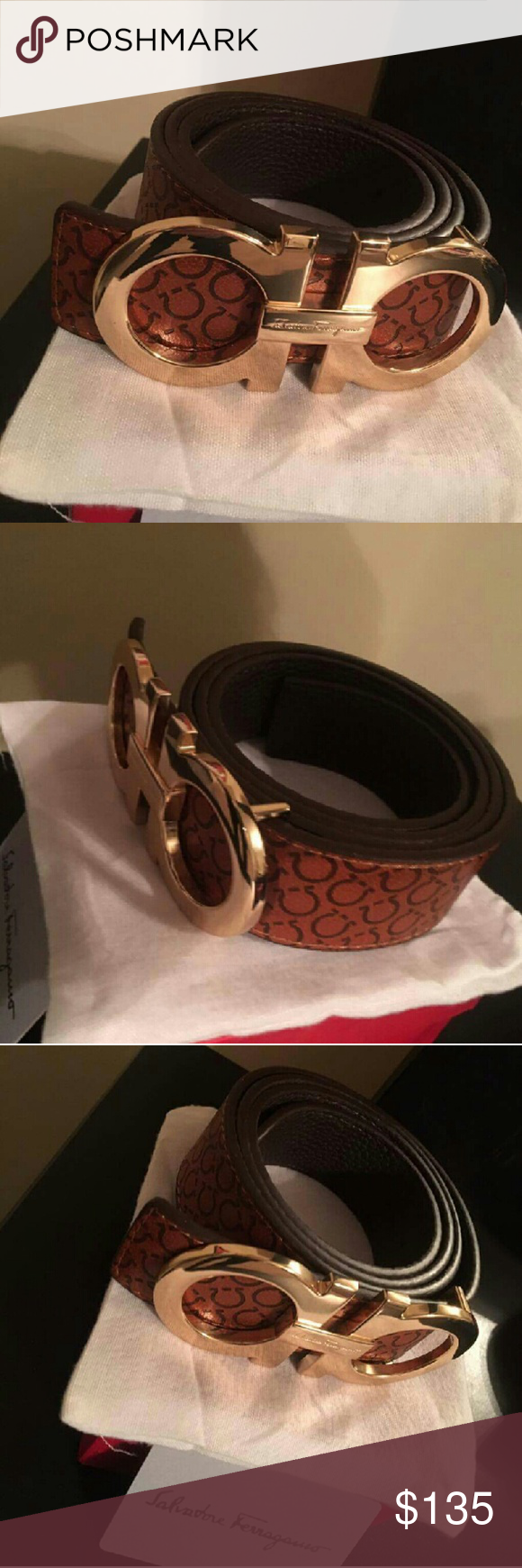 Ferragamo belt New Comes in the box with dust bag and card.  Bundle deals  Shipped same day or next day  Best deals Ferragamo Accessories Belts