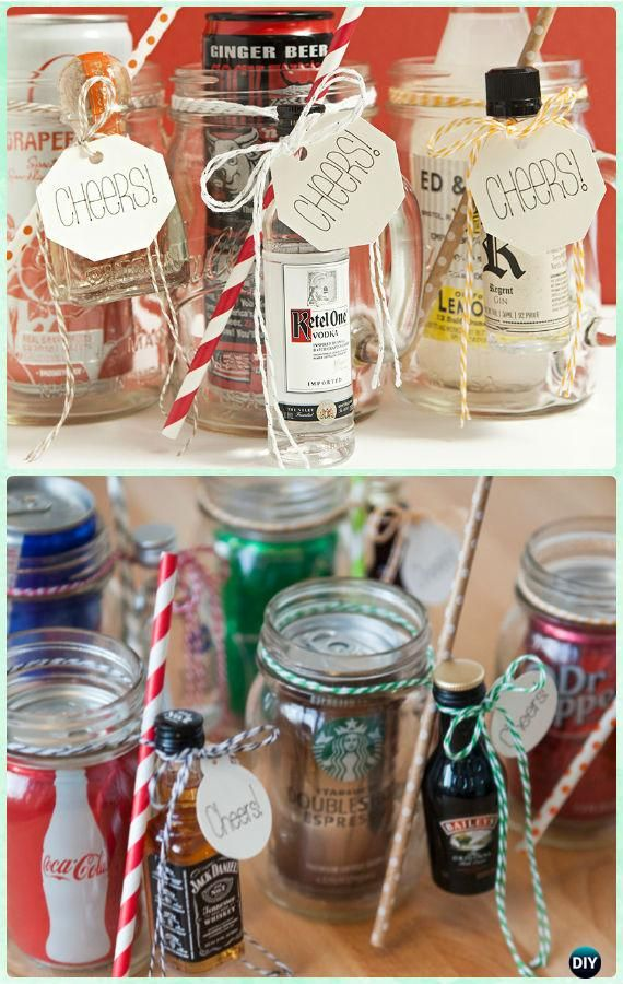 Diy Mason Jar Cocktail Gifts Instructions Diy Mason Jar Christmas