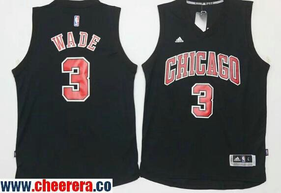 new styles c655c f7e37 coupon mens chicago bulls 3 dwyane wade all black with red stitched nba  adidas revolution 30