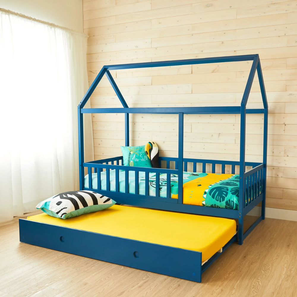 House Bed With Rails DARK BLUE Full Size in 2020