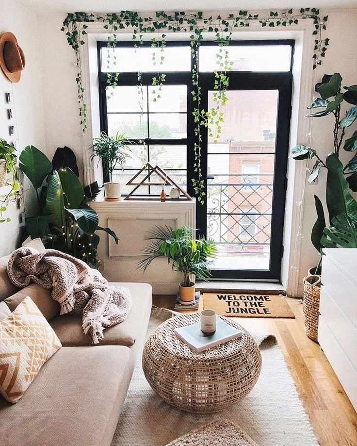 Plant filled living room | Living room inspiration ...