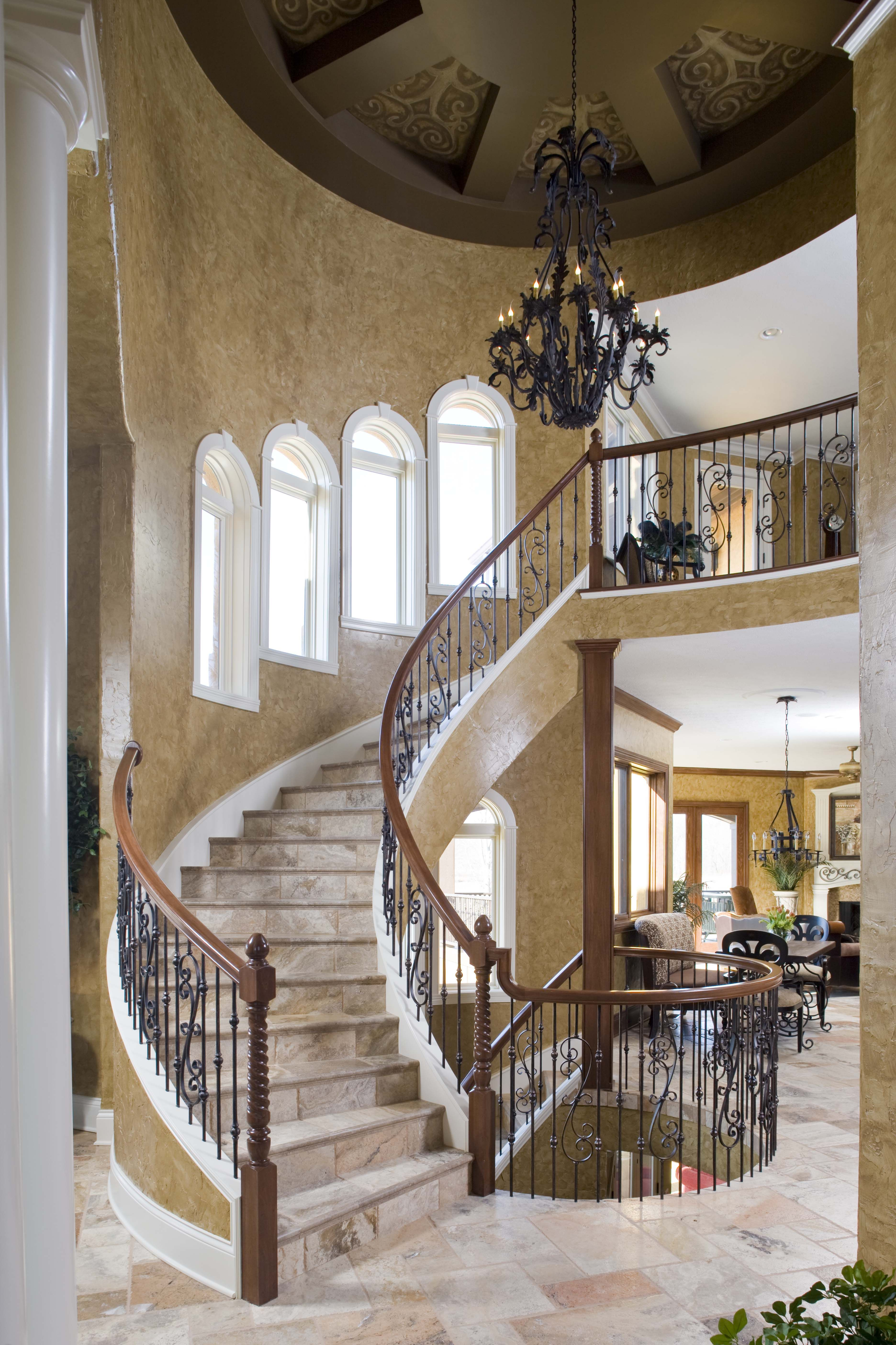 Best Italian Villa Staircase Created By Ef Marburger Fine 400 x 300
