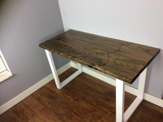 Solid Wood Top And Legs Beautiful Wooden Desk Or Coffee Table Table Is Stained A Dark Walnut If You Would Like Anot Real Wood Desk Wooden Desk Coffee Table