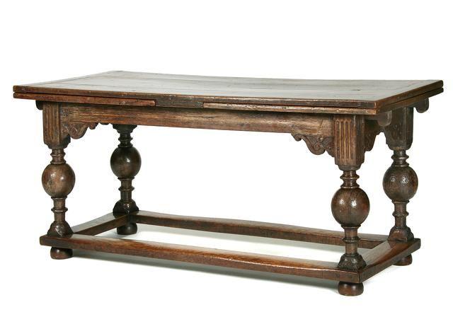 A Mid 17th Century Dutch Draw Leaf Table Draw Leaf Table