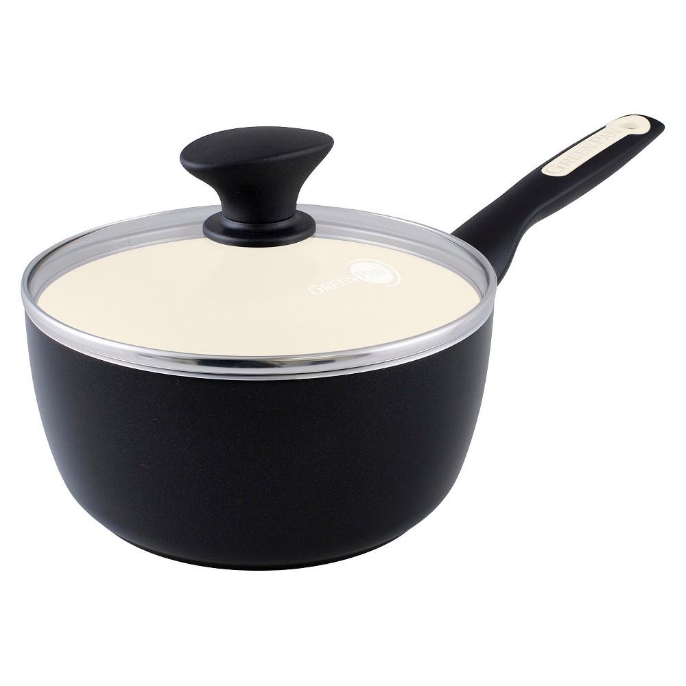 Greenpan Rio 2 Quart Ceramic Non Stick Covered Saucepan Black Greenpan Ceramic Non Stick Cookware And Bakeware