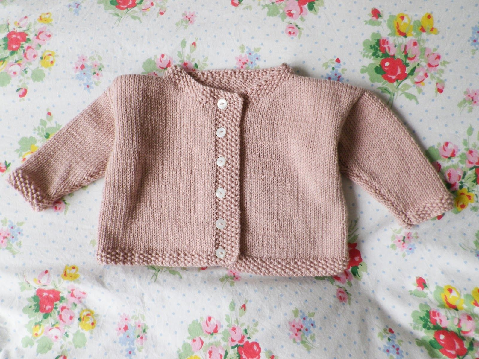 6377e63fa5f9 Pattern from Debbie Bliss  baby knits for beginners - jacket with ...
