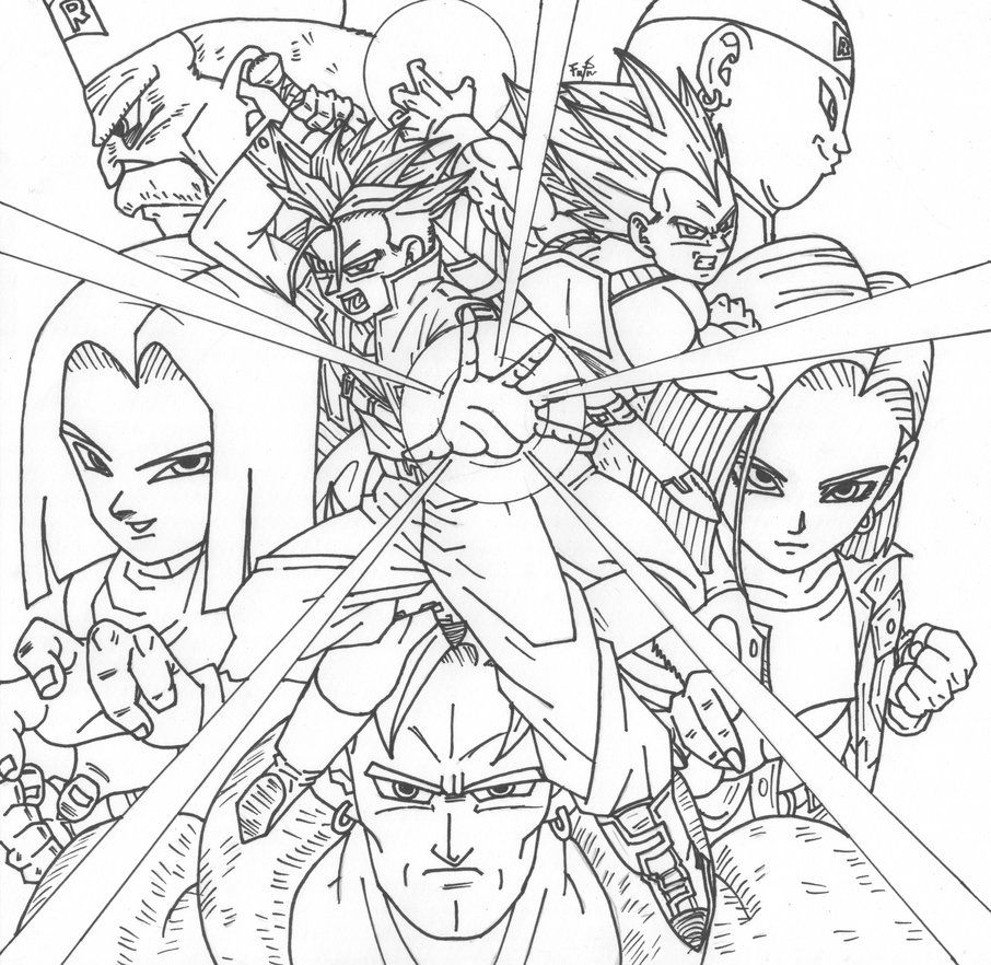 Dbz Android Saga By Cheygipe On Deviantart Super Coloring Pages Dragon Ball Artwork Dragon Ball