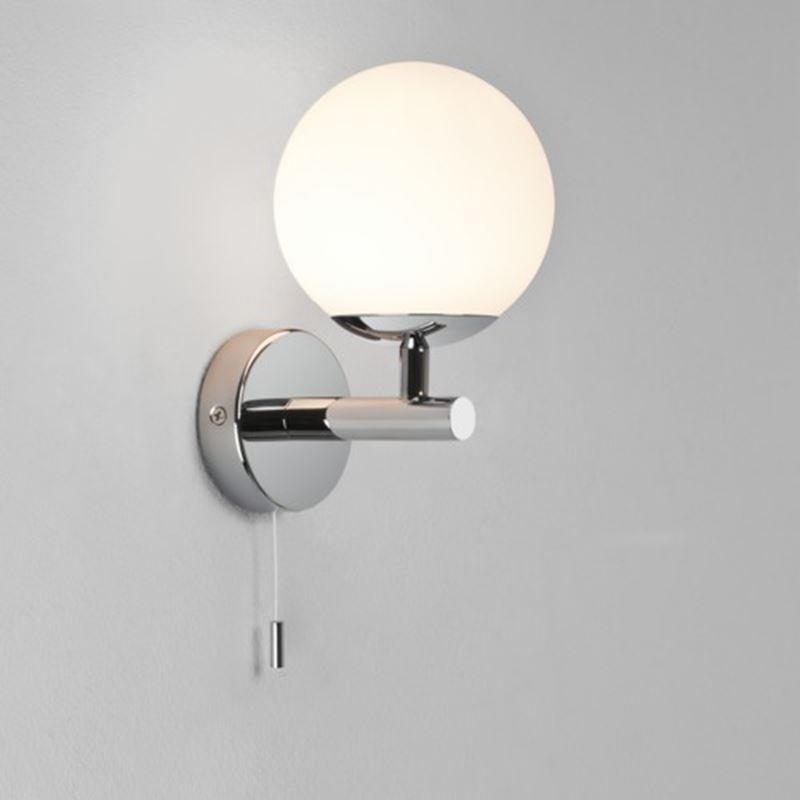 Astro Lighting Indoor Bathroom Wall Light With Integral Switch From Www Netlighting Co Uk Wall Lights Bathroom Wall Lights Bathroom Light Fittings