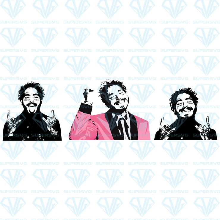 Post Malone Customized Graphic For Shirts Onesies Mugs Glasses Sweatshirts Black And White Svg In 2020 With Images Post Malone Svg Black And White